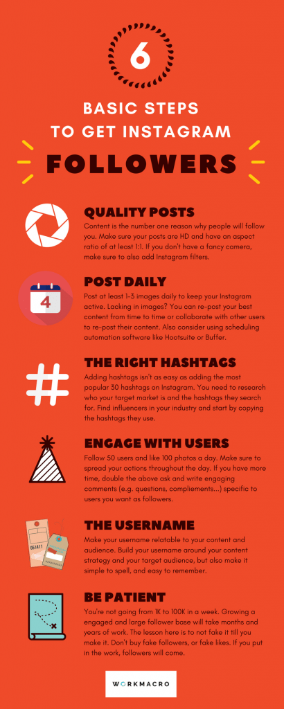 6 Basic Steps to Get Instagram Followers [Infographic]