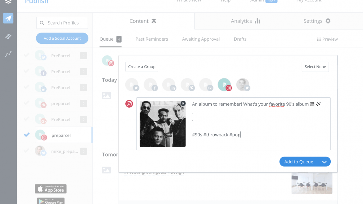 Buffer Update: Direct Scheduling for Instagram